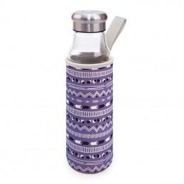 Botella de cristal iris...