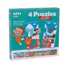 Pack 4 puzles las 4...