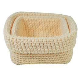 Set 2 cestas de crochet...