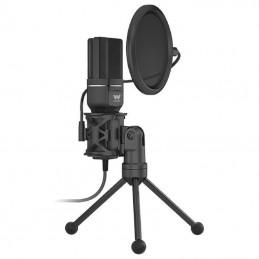 Micrófono con trípode y pop...